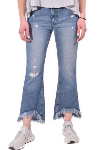 Асимметричные джинсы клеш