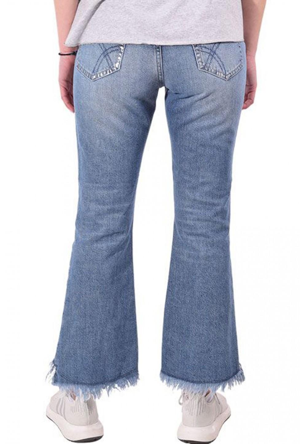Асиметричні джинси кльош