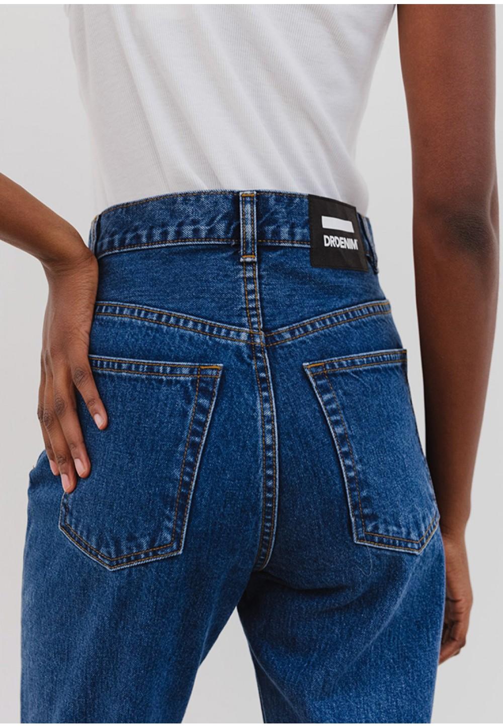 Стильные джинсы с высокой посадкой