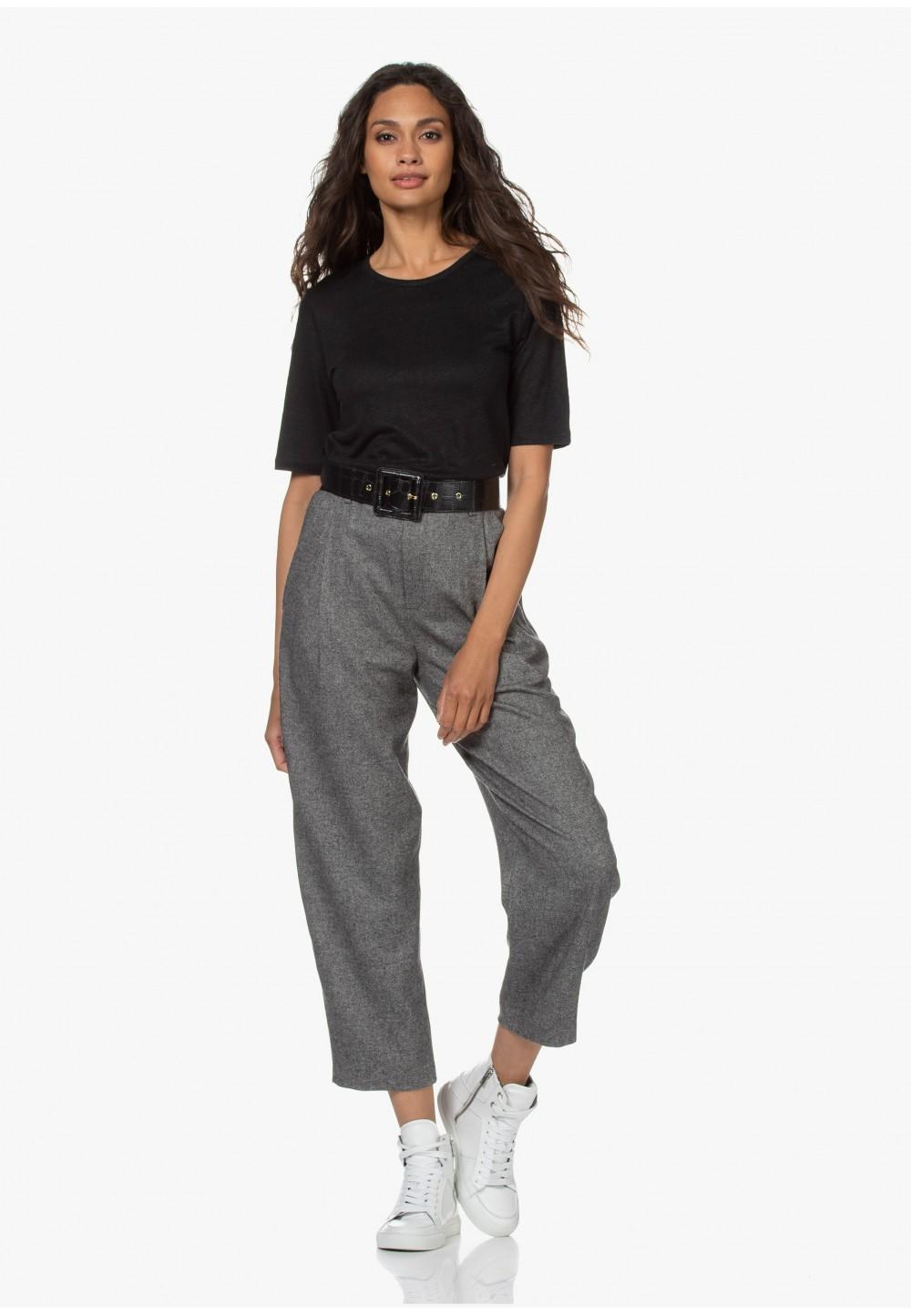 Стильні  штани iз вовны вільного крою