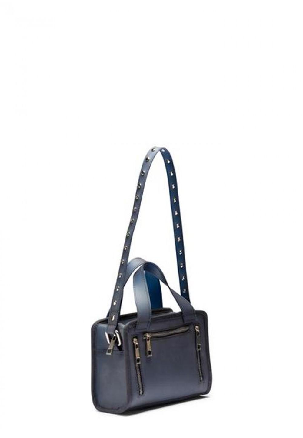 Стильна жіноча сумочка Mini Donna vegan blue
