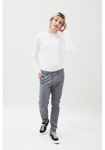 Хлопковые серые брюки