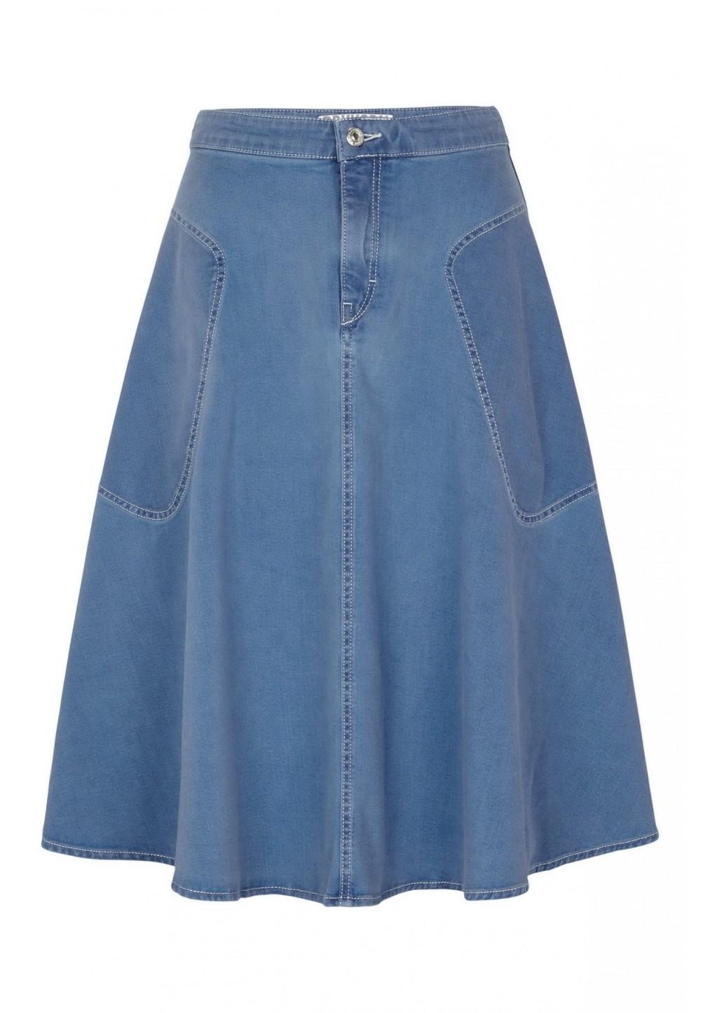 Юбка джинсовая полусолнце