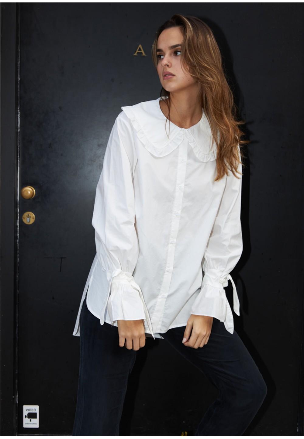 Рубашка с фигурными рукавами
