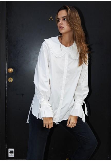 Сорочка з фігурними рукавами