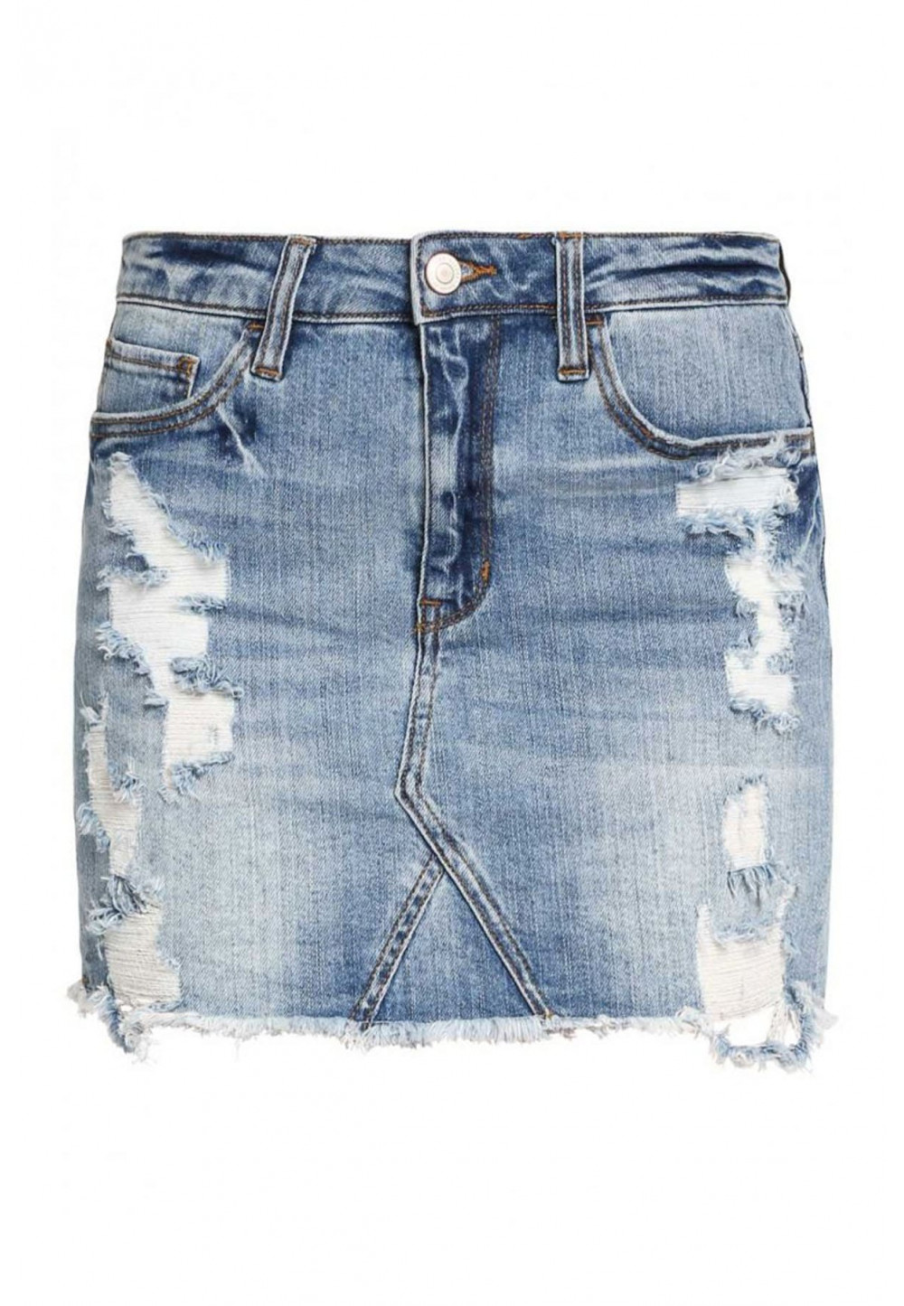 Юбка мини джинсовая