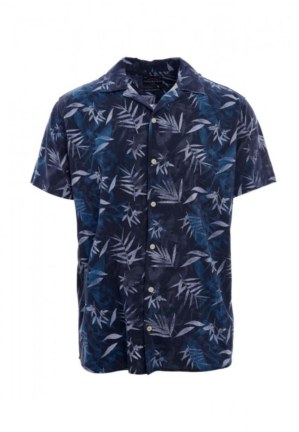Рубашка летняя с тропическим принтом