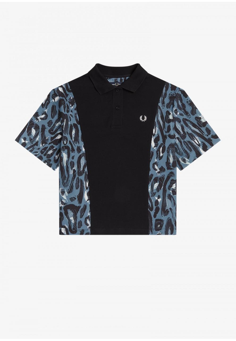 Рубашка-поло с леопардовым принтом