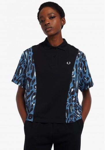 Сорочка-поло з леопардовим принтом