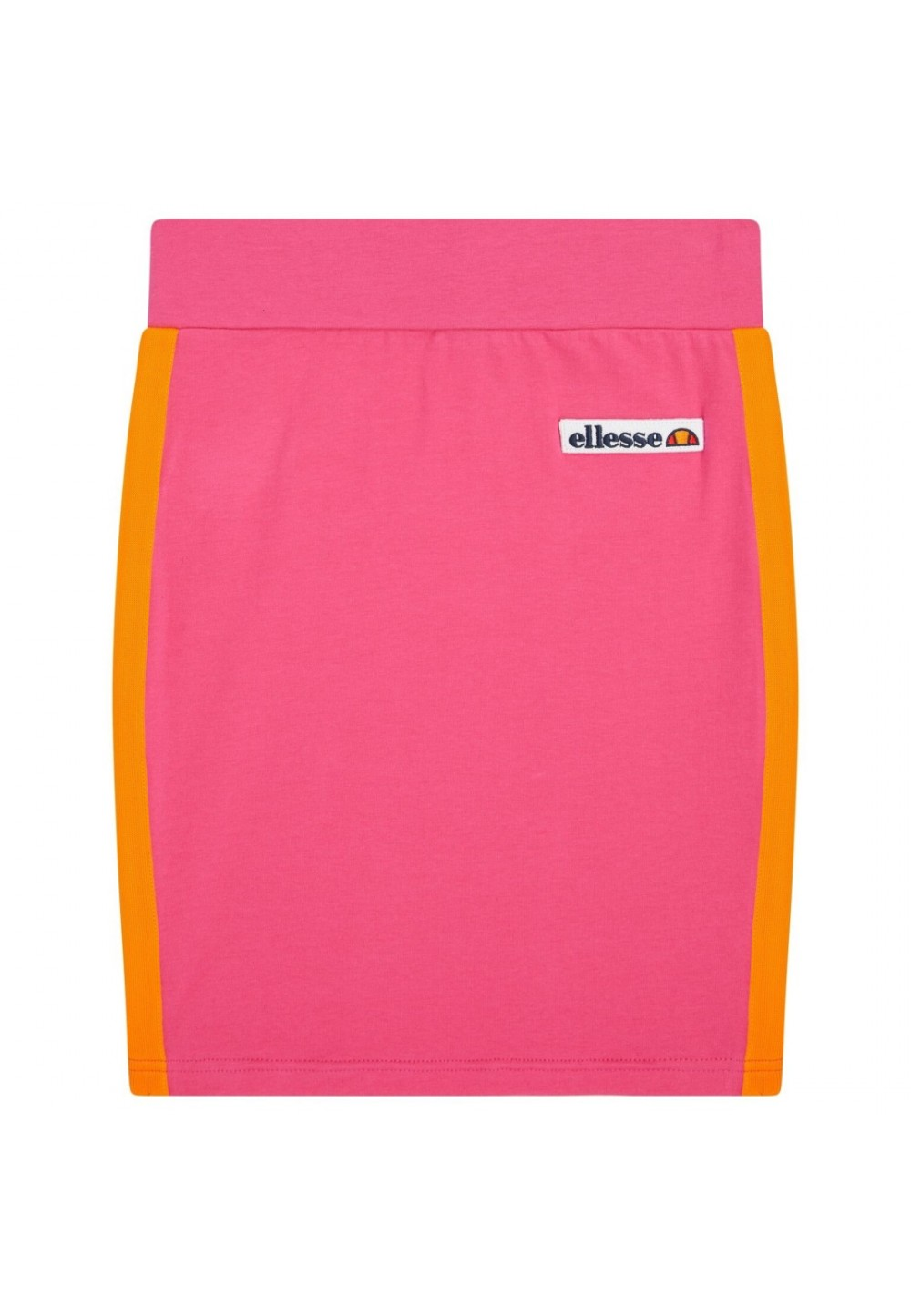 Юбка розовая с оранжевыми вставками