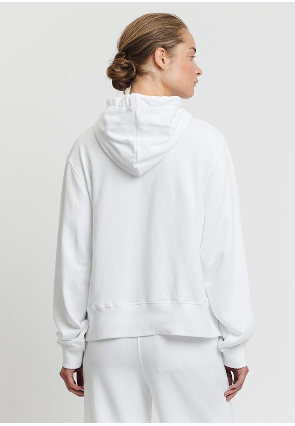 Білий худі з капюшоном на зав'язках
