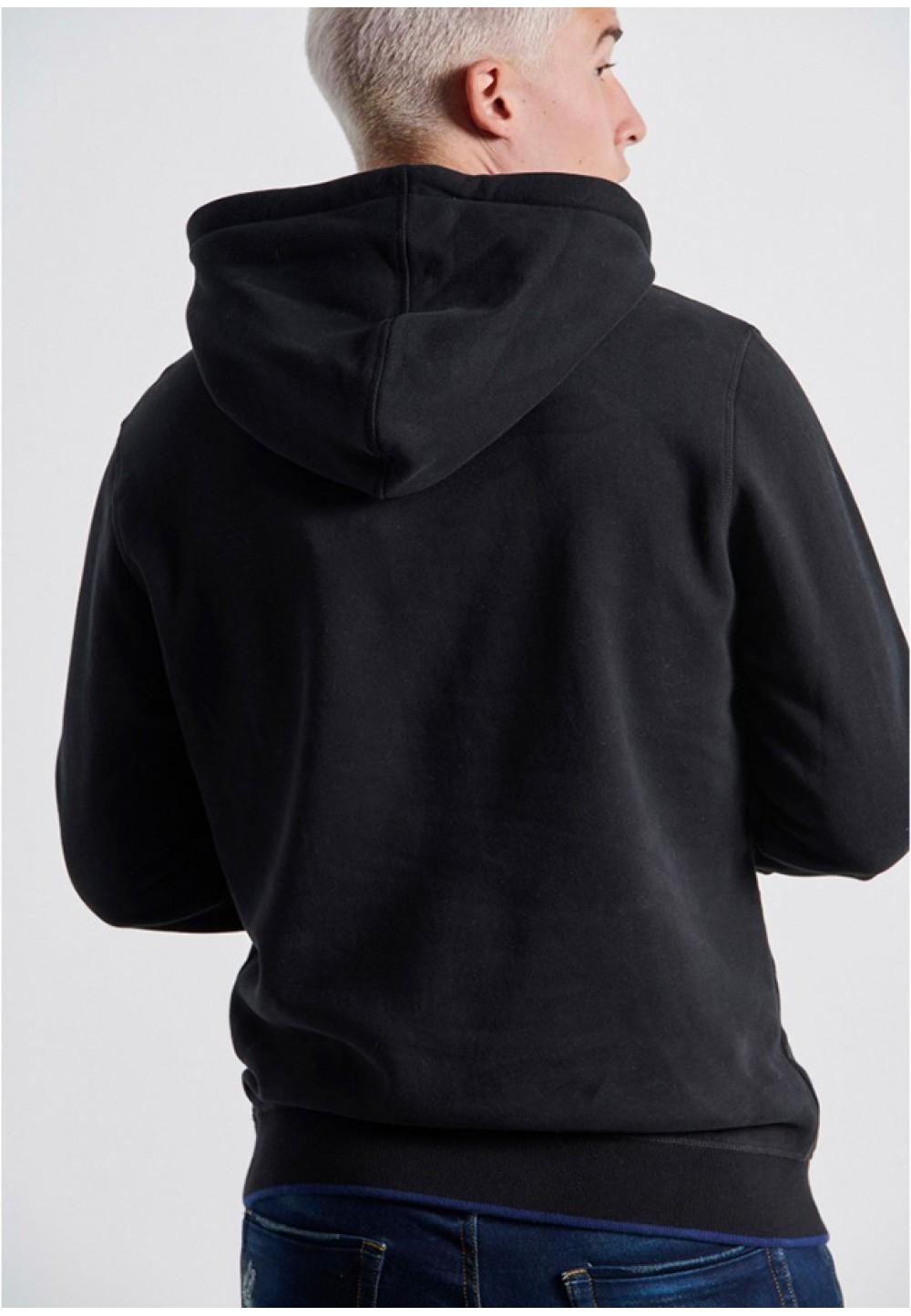 Черный худи с капюшоном