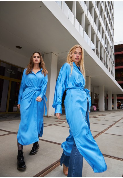 Синя сукня-сорочка