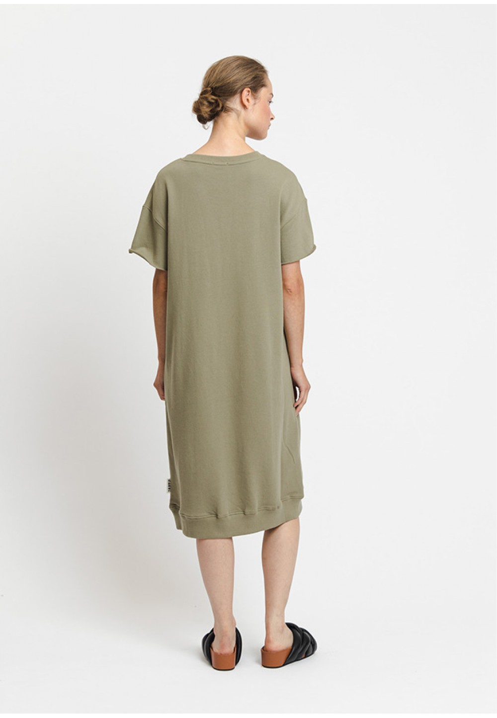 Довга сукня прямого крою з принтом