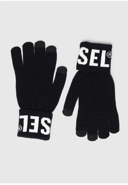 Черный вязаные перчатки