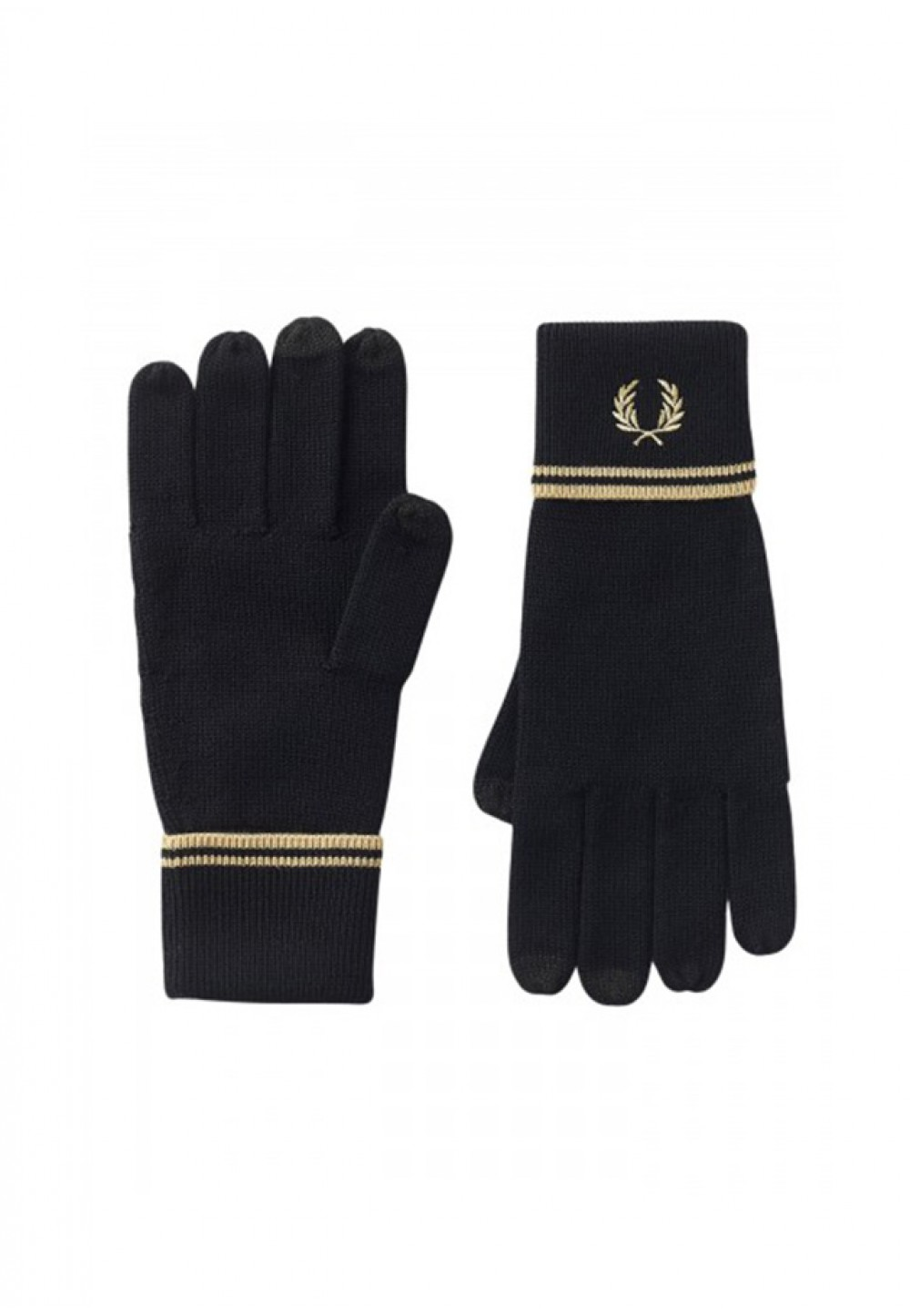 Вязаные перчатки с логотипом