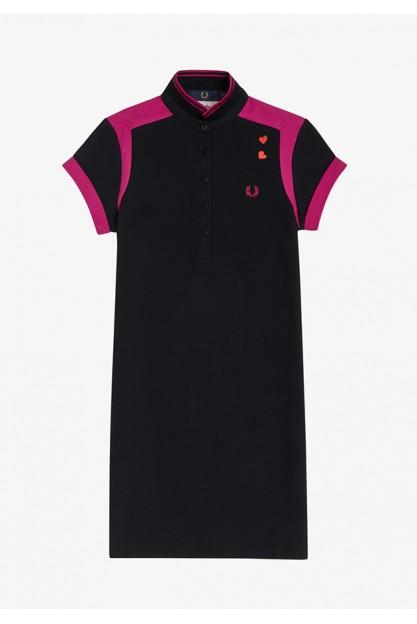 Черное спортивное платье