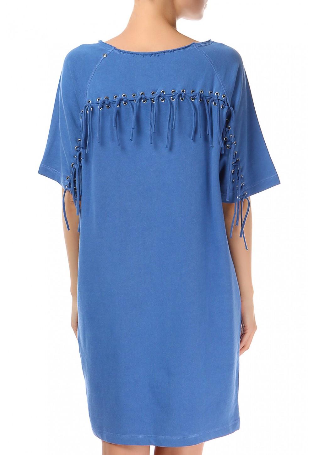 Синее платье oversize