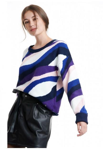 Смугастий пуловер