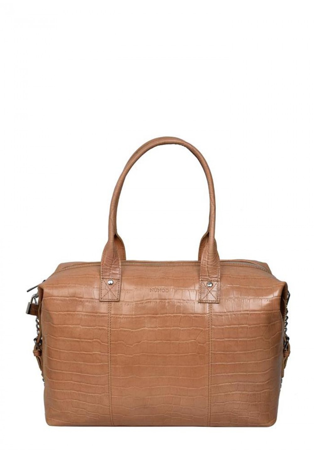 Классическая бежевая женская сумка Bobby croco