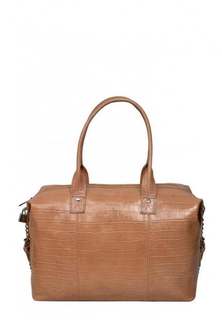 Класична бежева жіноча сумка Bobby croco