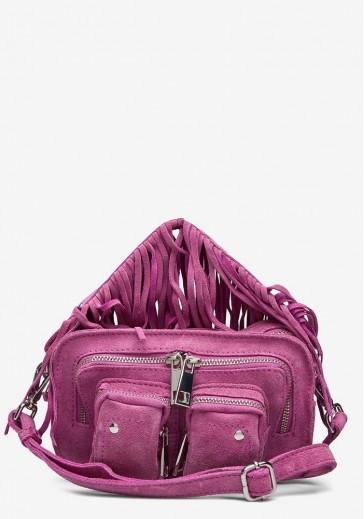 Яркая женская сумка с бахромой Helena suede w. fringes rouge