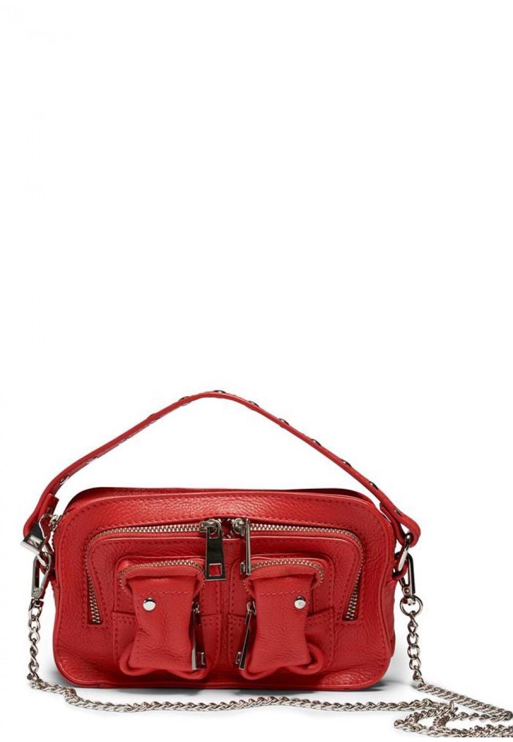 Компактна червона жіноча сумка Helena organic leather