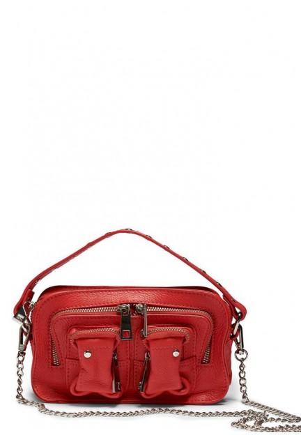 Компактная красная женская сумка Helena organic leather