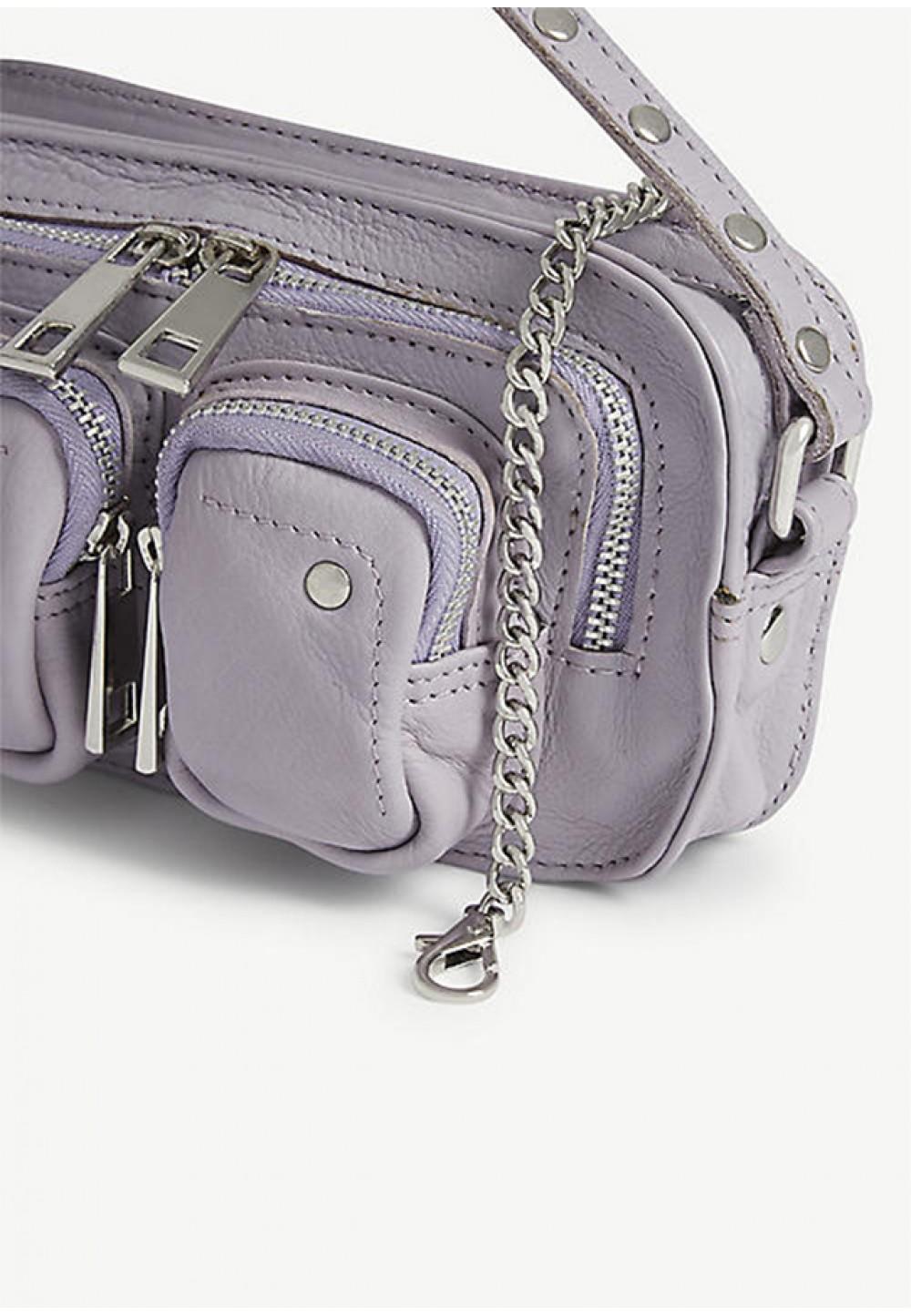 Лавандовая сумка на цепочке