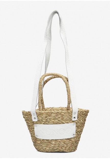 Компактная плетенная женская сумка Small beach bag