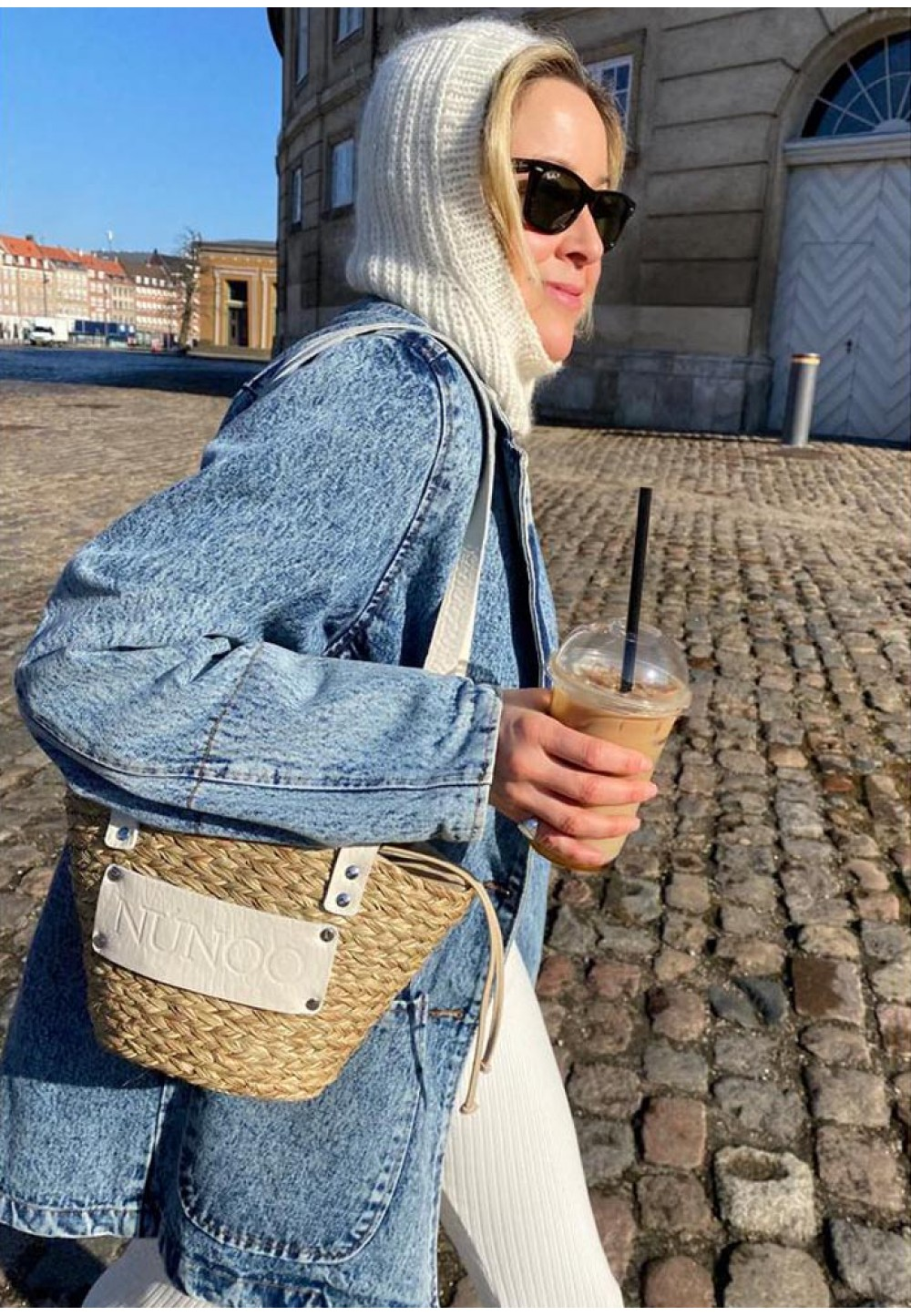 Компактна плетена жіноча сумка Small beach bag