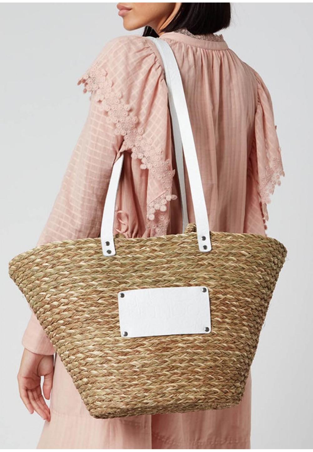Плетенная женская сумка Large beach bag
