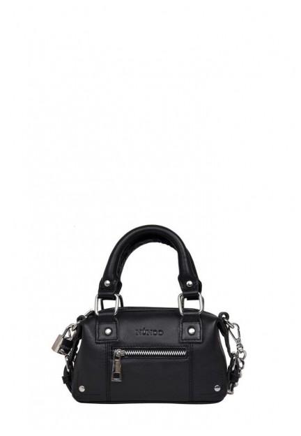 Маленькая черная женская сумка Mini Bobby pure