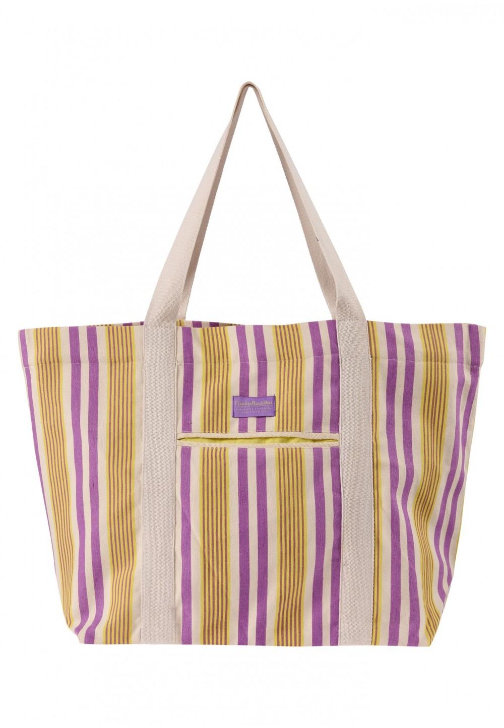 Пляжная сумка в полоску