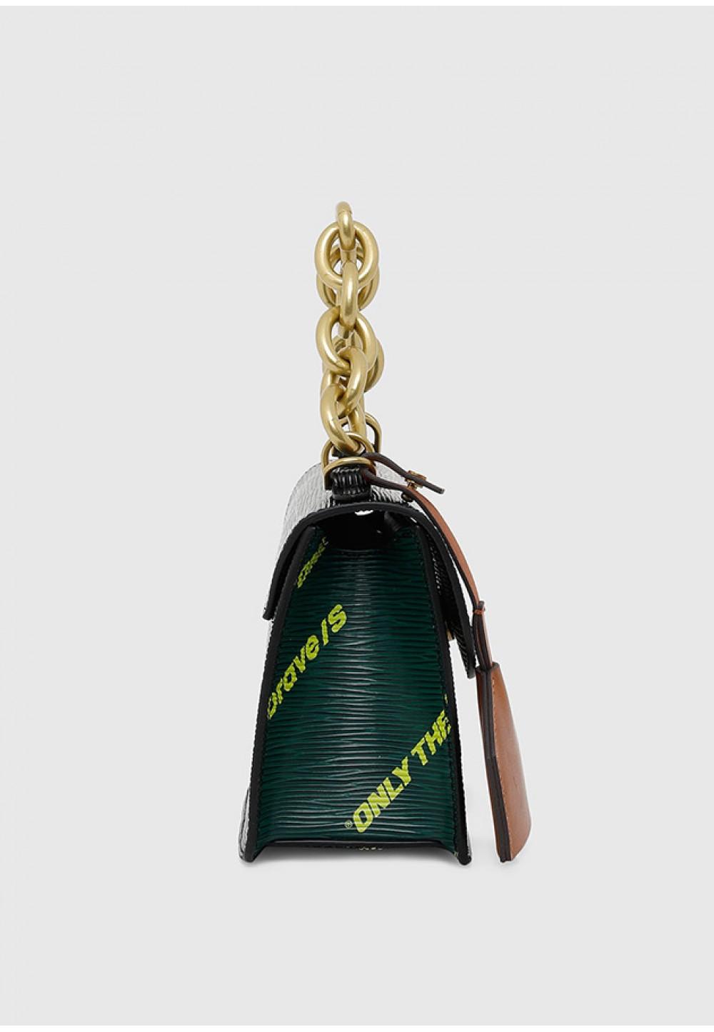 Міні-сумка через плече з принтом
