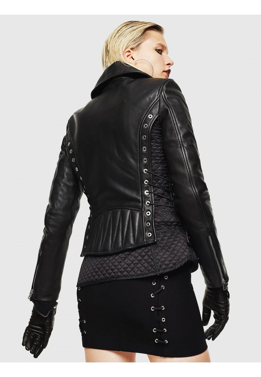 Кожаная байкерская куртка