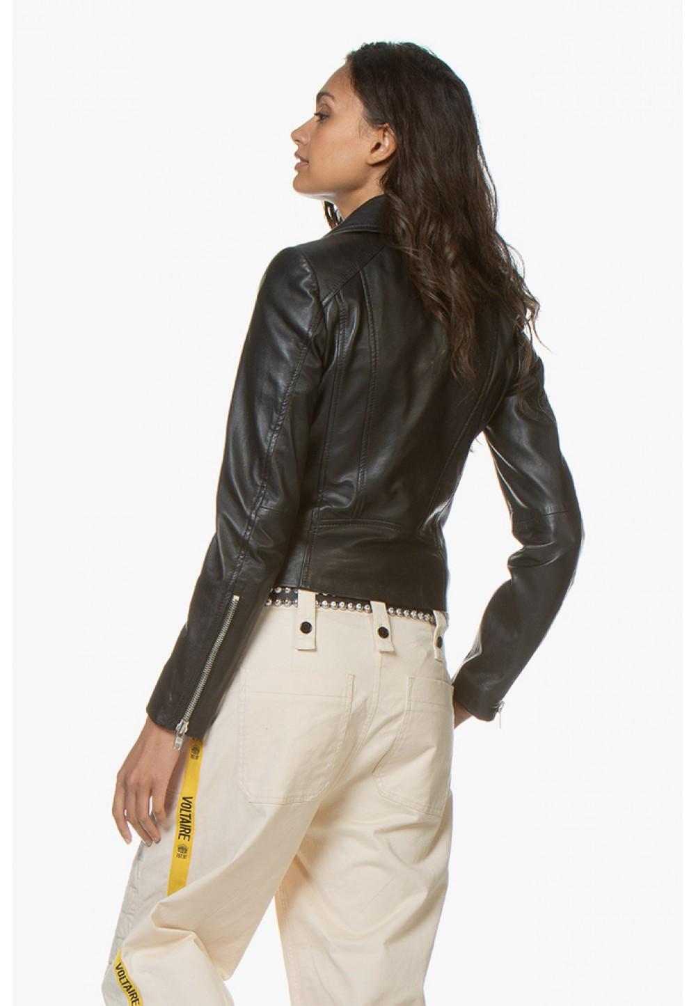 Куртка с асимметричной молнией
