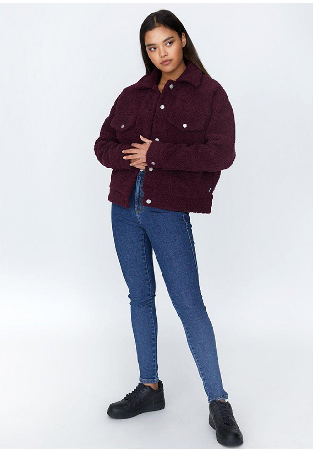Теплая куртка винного цвета Pixley