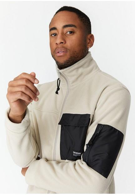 Стильна бежева куртка Malcom Fleece з накладними кишенями