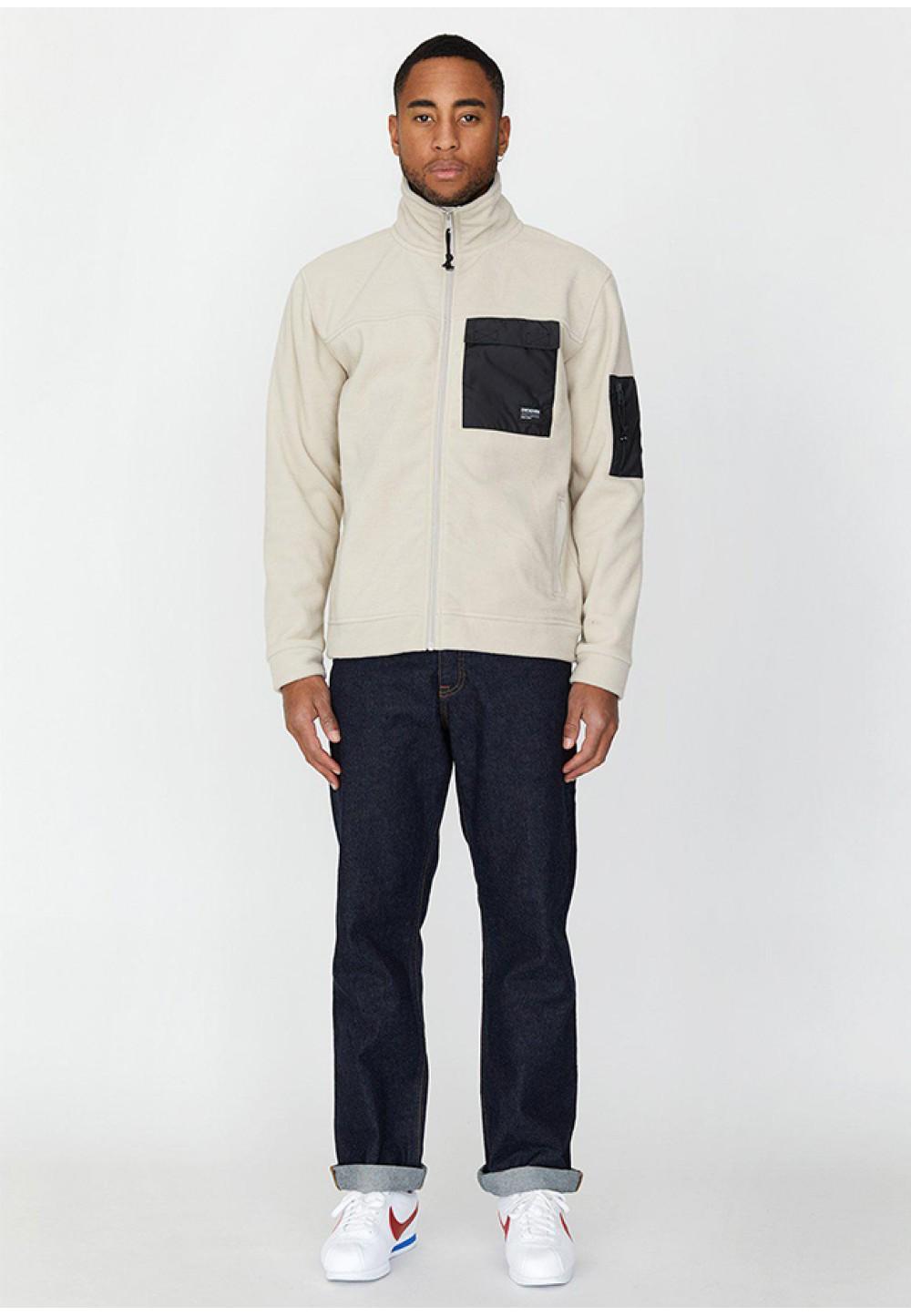 Стильная бежевая куртка Malcom Fleece с накладными карманами