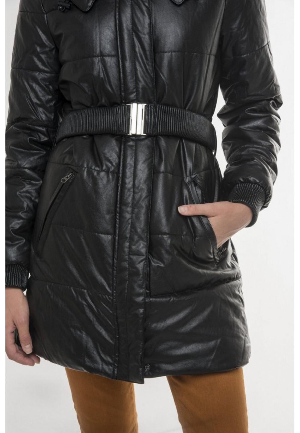 Куртка з довгим коміром