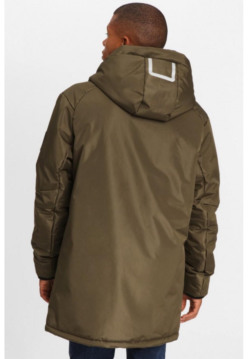 Куртка хаки с капюшоном