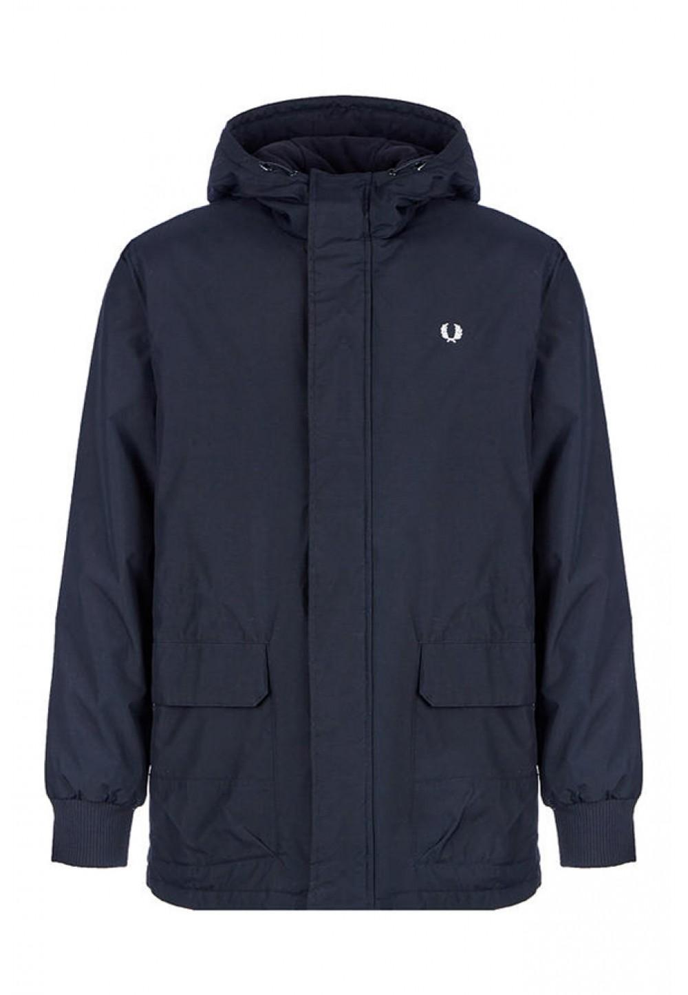 Куртка синя з накладними кишенями