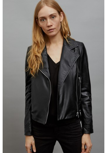 Женская черная куртка косуха PAISLY