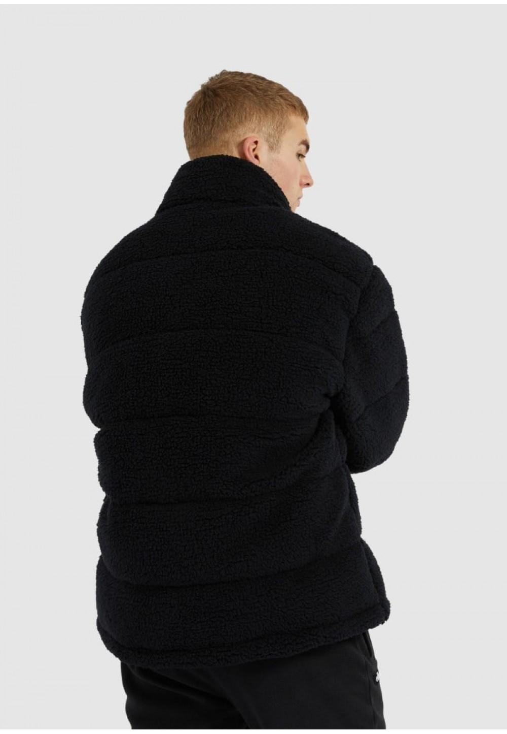 Тепла чоловіча куртка чорного кольору