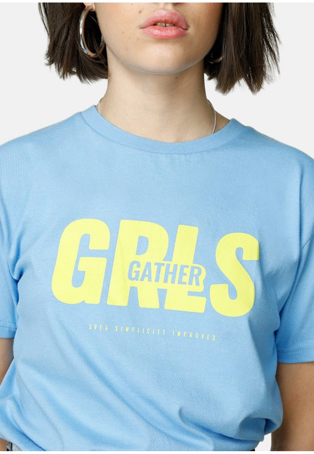 Футболка GRLS GATHER голубая