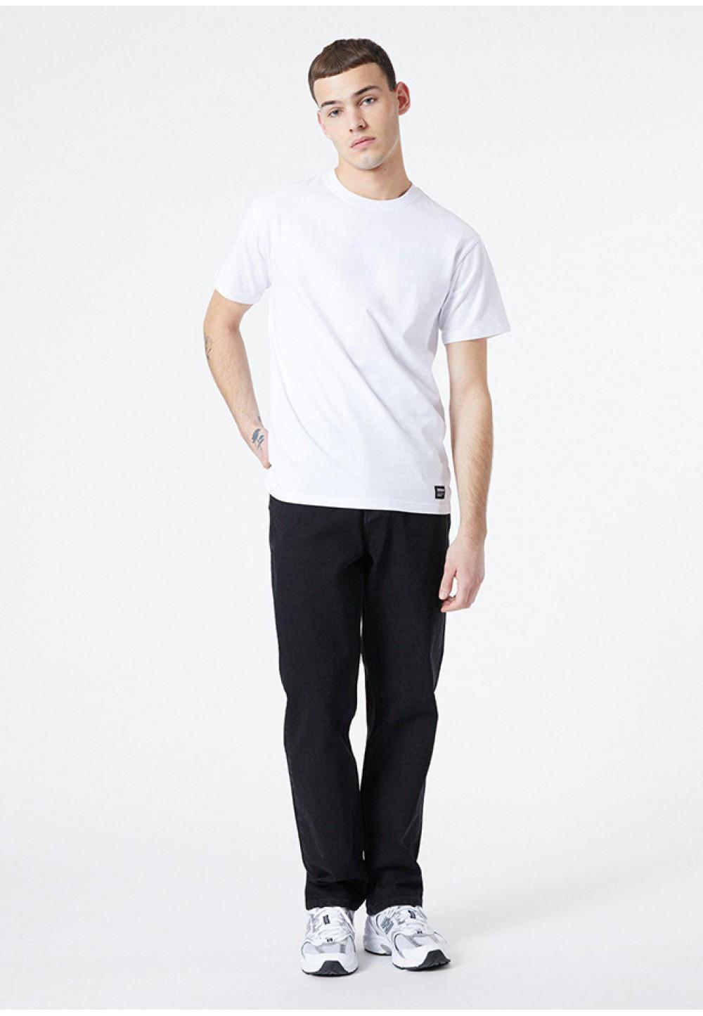 Хлопковая белая футболка прямого кроя