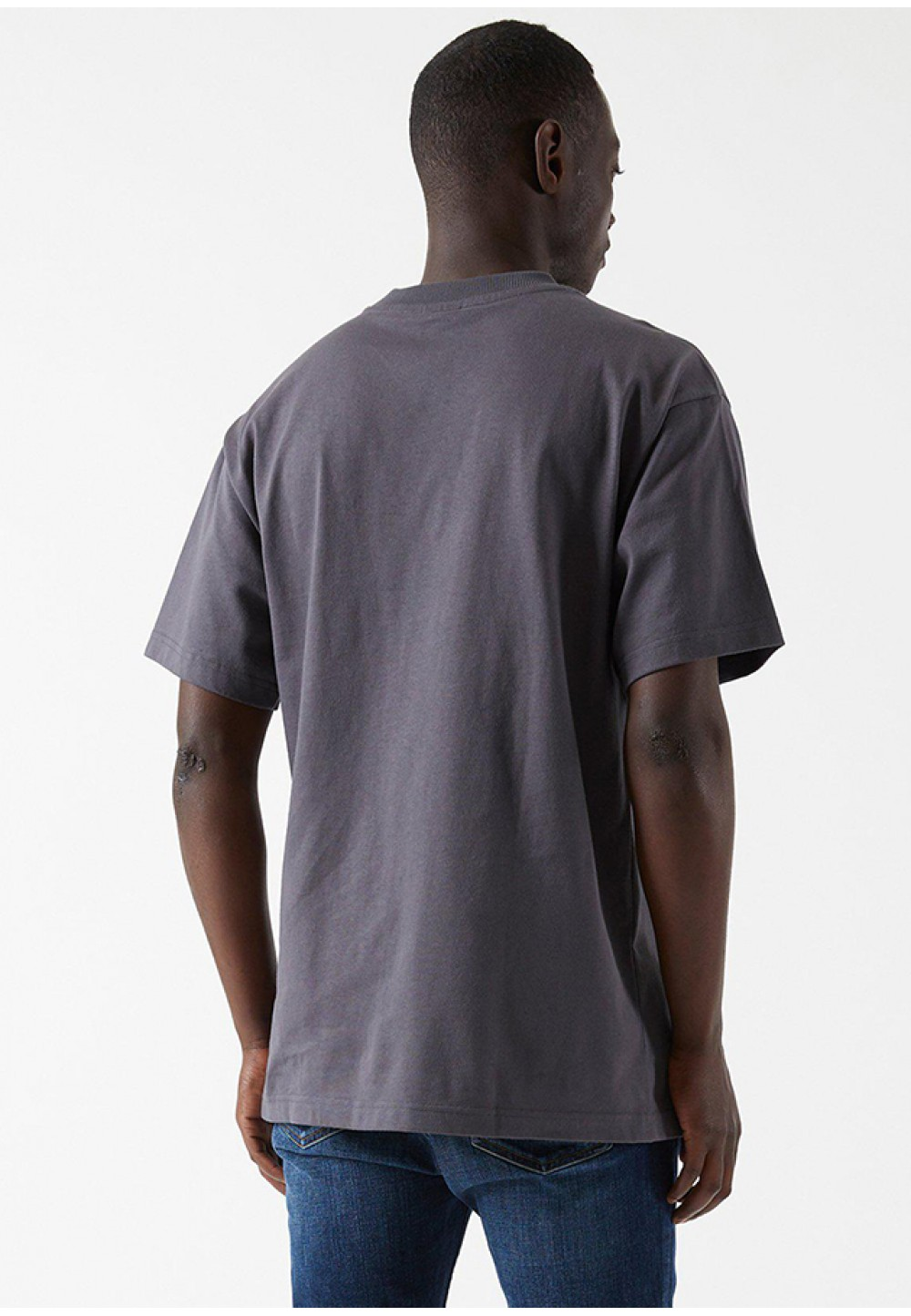 Сіра бавовняна футболка