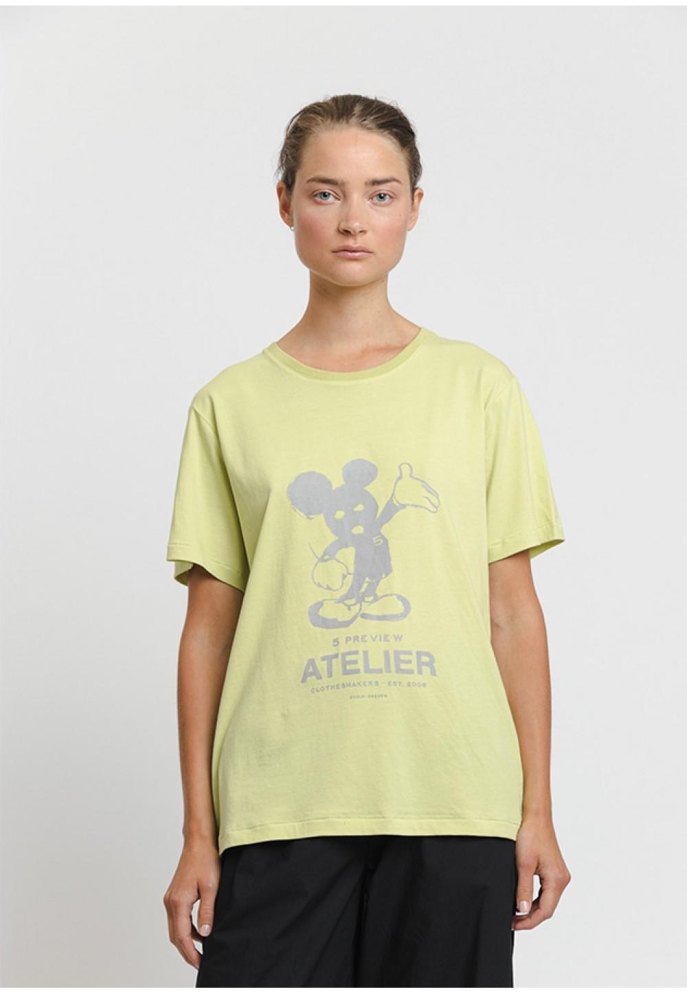 Лимонна футболка з принтом Mickey