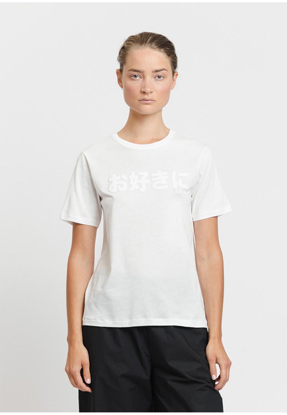 Біла бавовняна футболка